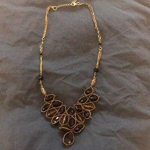 Anthropologie black beaded necklace